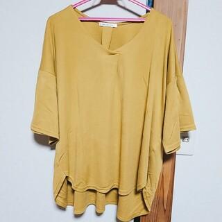大きいサイズ  フレア袖シャツ 4L(カットソー(半袖/袖なし))