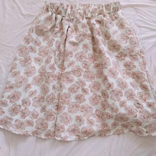 オリーブデオリーブ(OLIVEdesOLIVE)のOLIVE des OLIVE 花柄スカート(ひざ丈スカート)