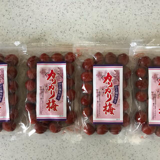 国内製造 カリカリ梅140g 4袋(漬物)