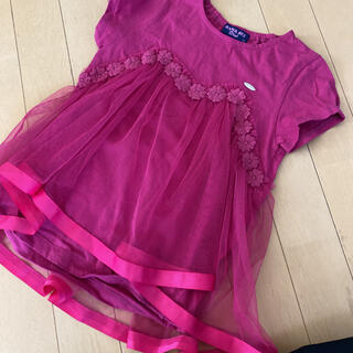 ANNA SUI mini - アナスイミニチュールフリルTシャツ120.130美品