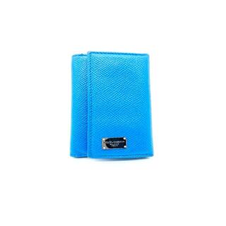 ドルチェアンドガッバーナ(DOLCE&GABBANA)のDOLCE&GABBANA LEATHER KYE CASE [BLUE] 大名(キーケース)