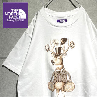 ザノースフェイス(THE NORTH FACE)のノースフェイス パープルレーベル アニマルプリント ビッグシルエット Tシャツ(Tシャツ/カットソー(半袖/袖なし))
