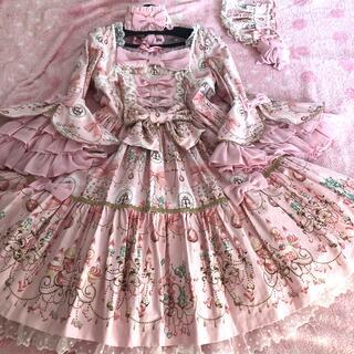 アンジェリックプリティー(Angelic Pretty)のスウィーティーシャンデリアワンピースset ピンク(ミディアムドレス)