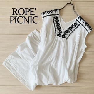 Rope' Picnic - ロペピクニック 刺繍 ワンピース エンブロイダリー 薄手 ロング丈 リゾート