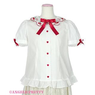 アンジェリックプリティー(Angelic Pretty)のAngelic Pretty Cherry Collarブラウス シロ(シャツ/ブラウス(長袖/七分))