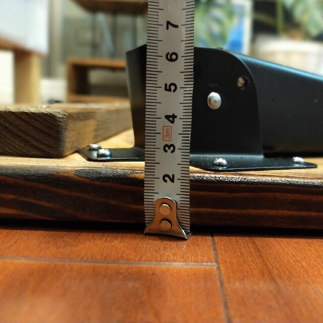 アンティークテーブル(無垢材) ☆ハンドメイド インテリア/住まい/日用品の机/テーブル(ローテーブル)の商品写真