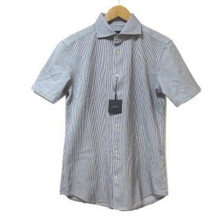 アバハウス(ABAHOUSE)のアバハウス 20SS ラッセルストライプ 半袖シャツ 紺 46(シャツ)