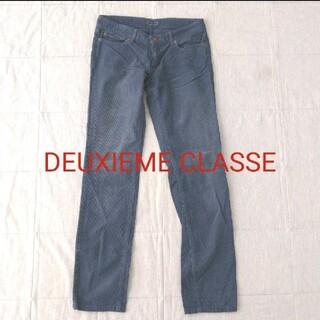 ドゥーズィエムクラス(DEUXIEME CLASSE)のドゥーズィエムクラス コーデュロイパンツ ブルー 36(カジュアルパンツ)