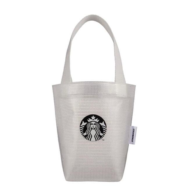 Starbucks Coffee(スターバックスコーヒー)の台湾 スターバックス 23周年 タンブラーバッグ クリアバッグ 白 ホワイト レディースのバッグ(トートバッグ)の商品写真