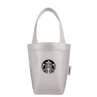 Starbucks Coffee - 台湾 スターバックス 23周年 タンブラーバッグ クリアバッグ 白 ホワイト