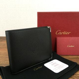 カルティエ(Cartier)の未使用品 Cartier 札入れ ブラック レザー マストライン 18(折り財布)