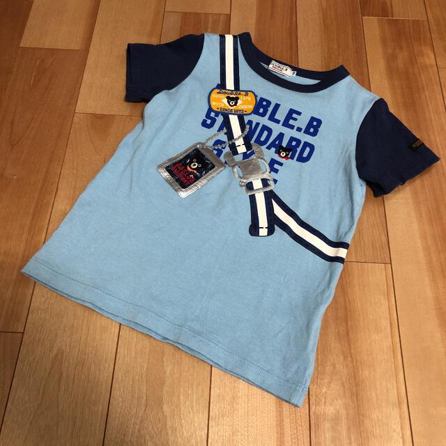 DOUBLE.B(ダブルビー)のダブルビー だまし絵 半袖Tシャツ キッズ/ベビー/マタニティのキッズ服男の子用(90cm~)(Tシャツ/カットソー)の商品写真