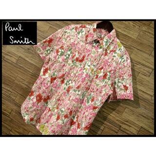 Paul Smith - 希少サイズ XL ポールスミス ロンドン パッチワーク 花柄 半袖 シャツ 総柄