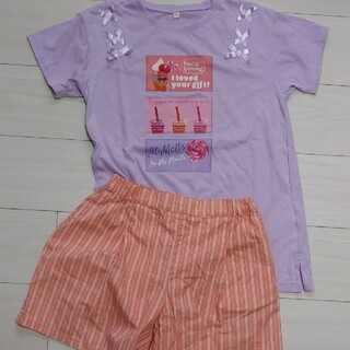 lovetoxic - 肩リボンTシャツ UNIQLO★160cm 女の子