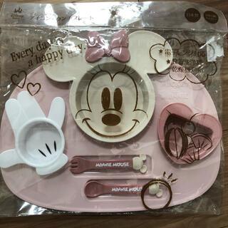 ディズニー(Disney)のアイコンランチプレート ミニーちゃん(離乳食器セット)