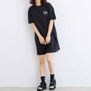 X-girl - X-girl VARIOUS LOGO SST DRESSTシャツワンピース