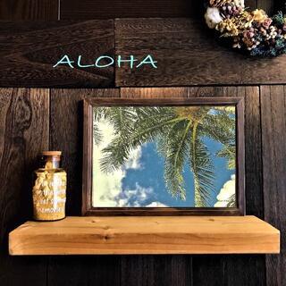【送料無料】ハワイの風景☆Palm tree No.639      フレーム付(アート/写真)