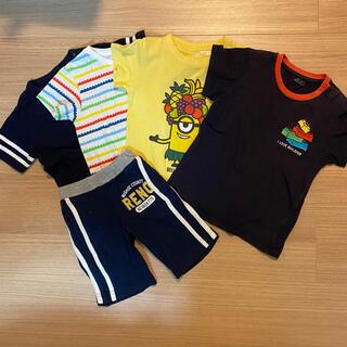 UNIQLO - 【100cmまとめ売り】Tシャツ4点+ボトムス1点