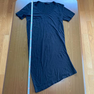 ノーアイディー(NO ID.)のノーアイディー 変形デザインロング丈カットソー サイズ2(Tシャツ/カットソー(半袖/袖なし))
