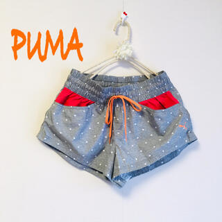 プーマ(PUMA)の♡美品♡ランニング♡ショーツ♡短パン♡ショーパン♡グレー♡水玉♡ヨガ♡(ウェア)