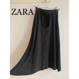 ザラ(ZARA)のZARA ミモレ丈 深スリットハイウエストスカート(ロングスカート)