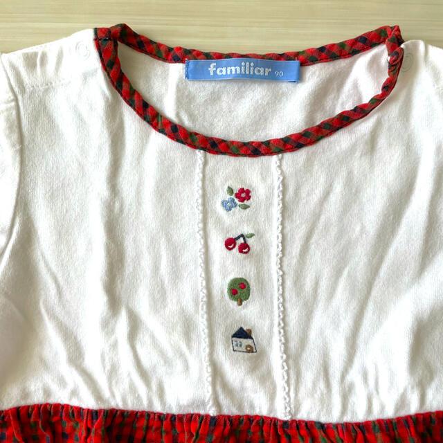 familiar(ファミリア)のファミリアチェック ワンピース キッズ/ベビー/マタニティのキッズ服女の子用(90cm~)(ワンピース)の商品写真