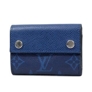 LOUIS VUITTON - ルイヴィトン タイガラマ 三つ折り財布 コンパクト ウォレット ブルーJ3907