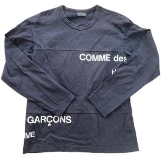 コムデギャルソンオムプリュス(COMME des GARCONS HOMME PLUS)のコムデギャルソンオム ad2001 split logo Tシャツ(Tシャツ/カットソー(七分/長袖))