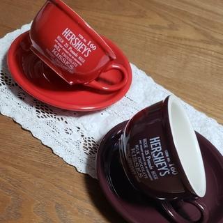 HERSHEY'S ハーシーズ カップ&ソーサー 2客 セット 新品(食器)