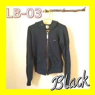 エルビーゼロスリー(LB-03)のLB-03 エルビーゼロスリー ジップアップパーカー ブラック レディース 黒(パーカー)