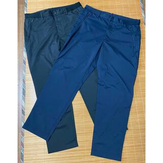 UNIQLO - UNIQLOユニクロイージーアンクルドライパンツ2本セットL美品黒紺