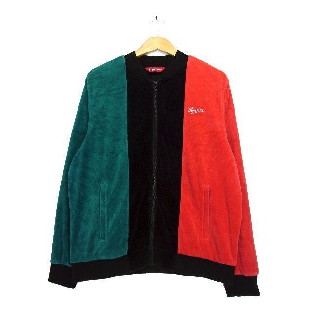 Supreme(シュプリーム)のシュプリーム Supreme ■ 18AW ロゴ刺繍ベロアジップアップジャケット メンズのジャケット/アウター(ブルゾン)の商品写真