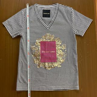 ドレスキャンプ(DRESSCAMP)のドレスキャンプ 金額縁ロゴデザインカットソー サイズ46(Tシャツ/カットソー(半袖/袖なし))