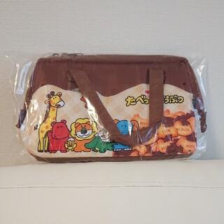 たべっ子どうぶつ がまぐちランチトートバッグ チョコ 非売品(ランチボックス巾着)