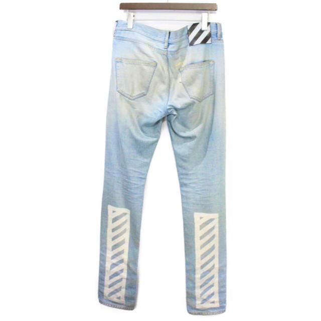 OFF-WHITE(オフホワイト)の✨レアデザイン✨OFF WHITE デニム ジーンズ  プリント メンズのパンツ(デニム/ジーンズ)の商品写真