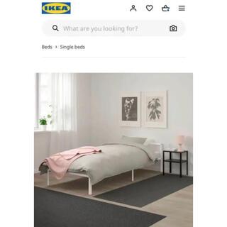 イケア(IKEA)のIKEAシングルベッドフレーム(シングルベッド)