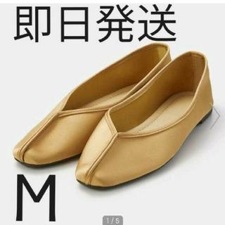 GU - 新品タグ付き GU チャイナフラットシューズ ブラウン M