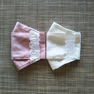 一重仕立て不織布マスクカバー コットンリネン
