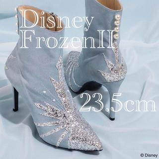 ダイアナ(DIANA)のDIANA アナと雪の女王 エルサ ショートブーツ 23.5cm ダイアナ(ブーツ)