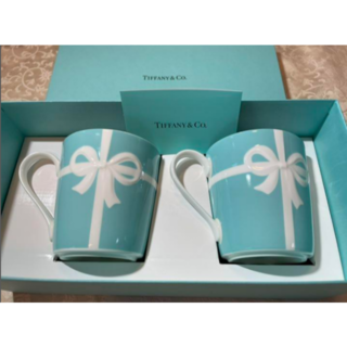 Tiffany & Co. - ティファニー ブルーリボン ペアマグカップ2個 袋付き