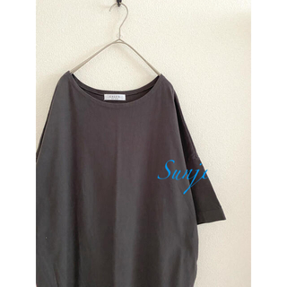 DEUXIEME CLASSE - CALUX オーバー gray cotton  Tシャツワンピース ドゥーズ