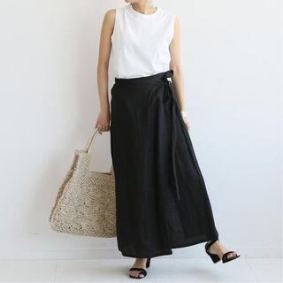 Spick and Span - 【美品】OZMA ラップスカート リネン 定価27,500円