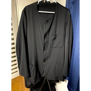 Yohji Yamamoto - ヨウジヤマモト  ウールギャバ ノーカラージャケット