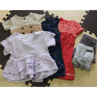 ザラキッズ(ZARA KIDS)の女の子 100 まとめて 6着セット おしゃれ ナチュラル かわいい(Tシャツ/カットソー)