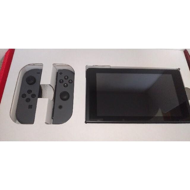 Nintendo Switch(ニンテンドースイッチ)の新型 Nintendo Switch Joy-Con(L)/(R) グレー 本体 エンタメ/ホビーのゲームソフト/ゲーム機本体(家庭用ゲーム機本体)の商品写真