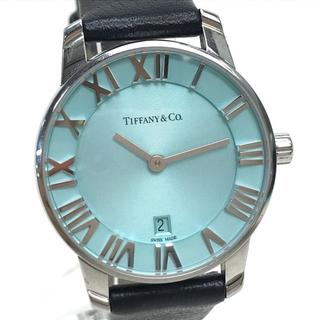 Tiffany & Co. - ティファニー アトラス 2ハンド レディース腕時計 ライトブルー×ブラック