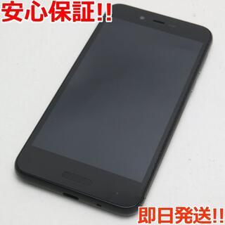 アクオス(AQUOS)の美品 SIMフリー SH-M05 ブラック 本体 白ロム (スマートフォン本体)