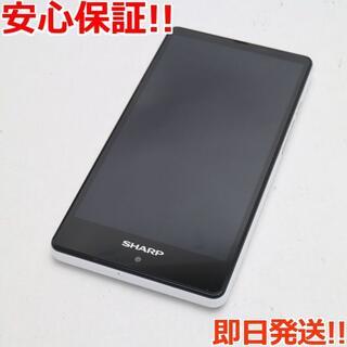 シャープ(SHARP)の美品 SIMフリー AQUOS SH-RM02 ホワイト (スマートフォン本体)