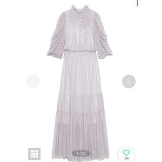 snidel - スナイデル Sustainableチュールティアードドレス