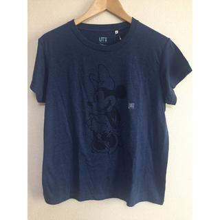 ユニクロ(UNIQLO)の【ユニクロ】ミッキーブルー◆グラフィックTシャツXL◆ミニー(Tシャツ(半袖/袖なし))
